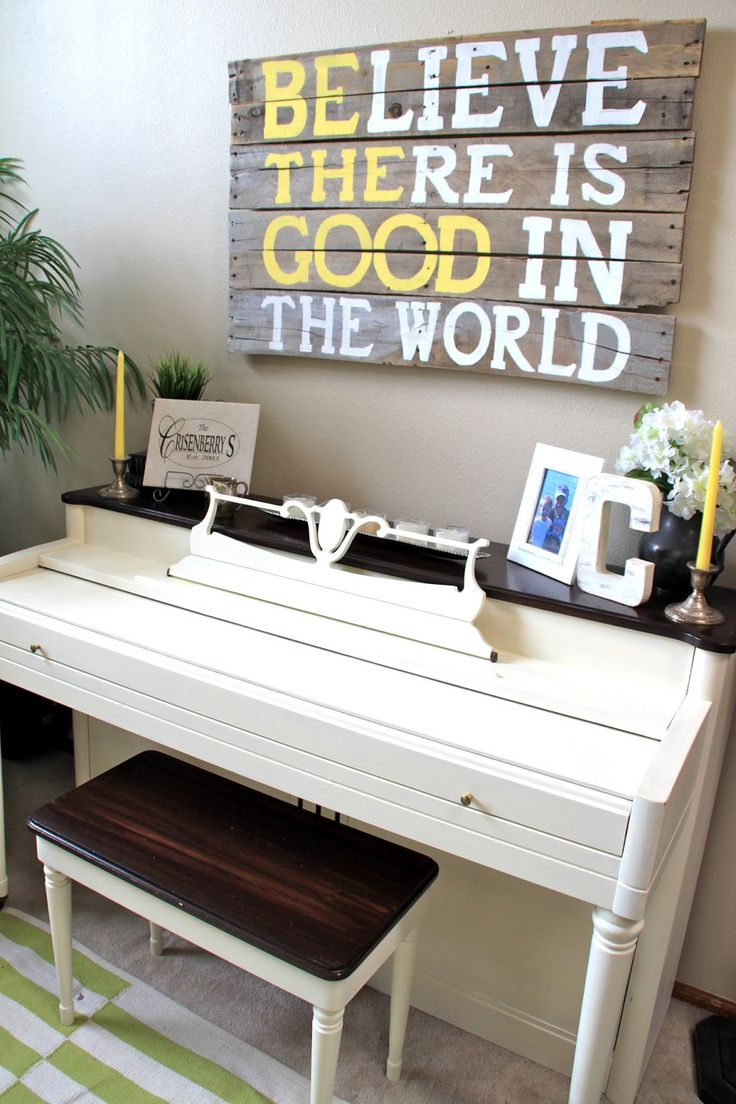 Decorating with a piano - Drab To Fab Piano Transformation Using Chalk Paint And Gel Stain