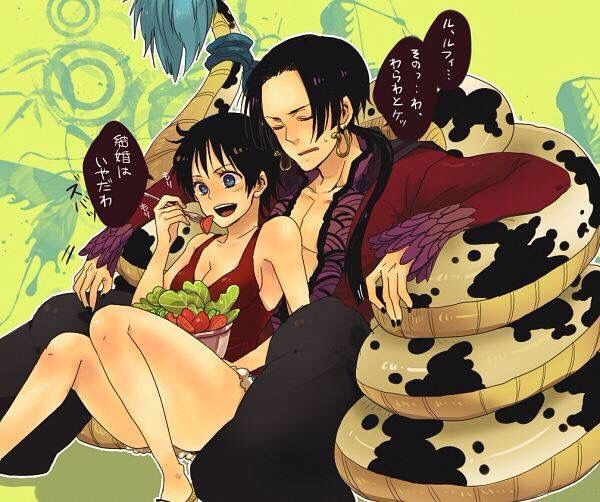 72 best one piece luffy and hancock images on pinterest boas luhan and monkey - One piece luffy x hancock ...