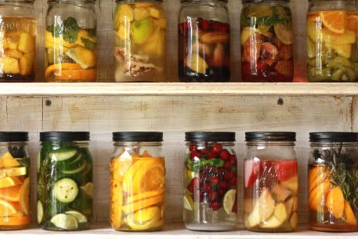 tequila infused with  fruit : Pineapple, brown sugar and vanilla bean in tequila... prickly pear, pineapple and orange in tequila... cranberries, mint and lime in vodka.: Masonjar Drinks, Infused Alcohol, Protein Bar, Bar Area, Infused Vodka, Alcohol Masonjar, Alcohol In Masons Jars Idea, Masons Jars Drinks, Party Drinks