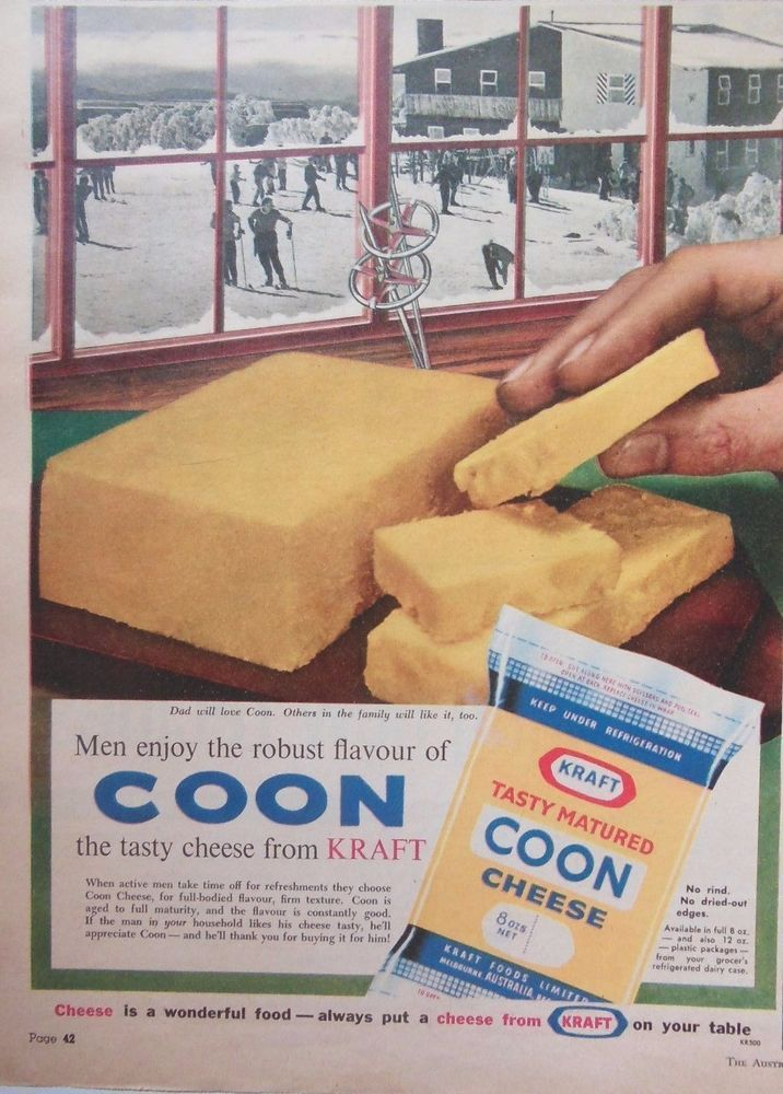 KRAFT COON TASTY CHEESE AD 1961 original vintage AUSTRALIAN kitchen advertising