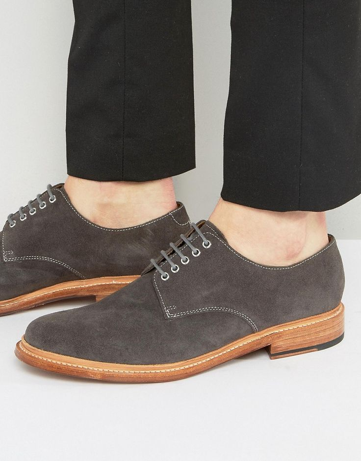 Get this Grenson's low sneakers now! Click for more details. Worldwide shipping. Grenson Finlay Suede Derby Shoes - Grey: Shoes by Grenson, Suede upper, Lace-up fastening, Round toe, Smooth leather sole, Treat with a leather protector, 100% Real Leather Upper. Grenson is one of England's legendary Northamptonshire shoe manufacturers and has a rich company history dating back to 1886. Manufactured very much the same way they were over 100 years ago, Grenson shoes are all Goodyear welted and…
