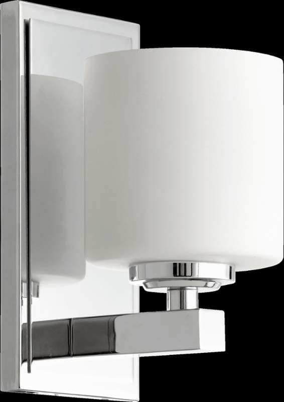 Buy the Quorum International Chrome Direct  Shop for the Quorum  International Chrome 1 Light Bathroom Sconce with Frosted Glass Cylinder  Shade and save 93 best bath lighting images on Pinterest   Bathroom lighting  . Bathroom 1 Light Sconces. Home Design Ideas