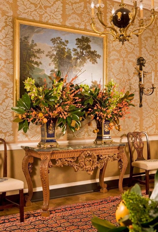 The Lovely Formal Entry Hall At Dc S Blair House Traditional Home 174 Holiday Decorations