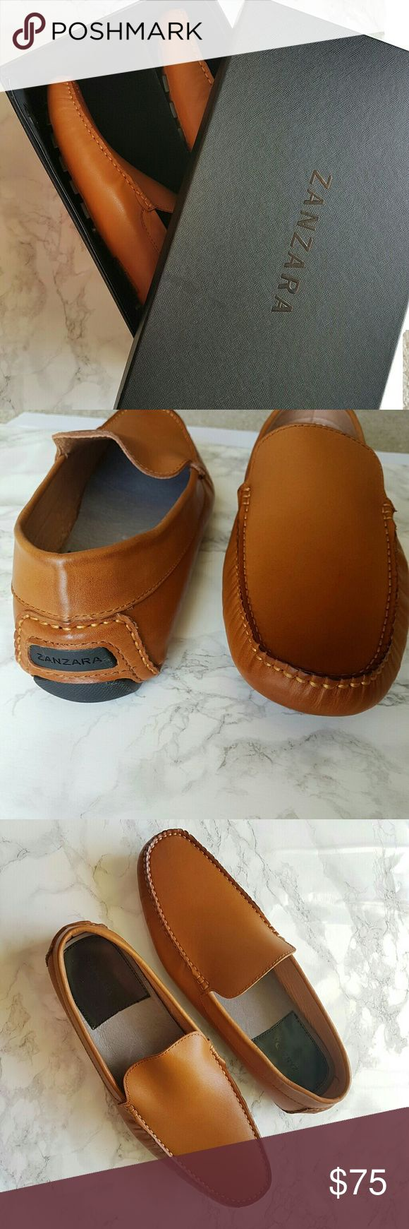 NWT! Zanzara Tan Leather Driver Shoes - Men 🌴 Brand New in Box 🌴 Authentic 🌴 Genuine Leather Shoes Loafers & Slip-Ons