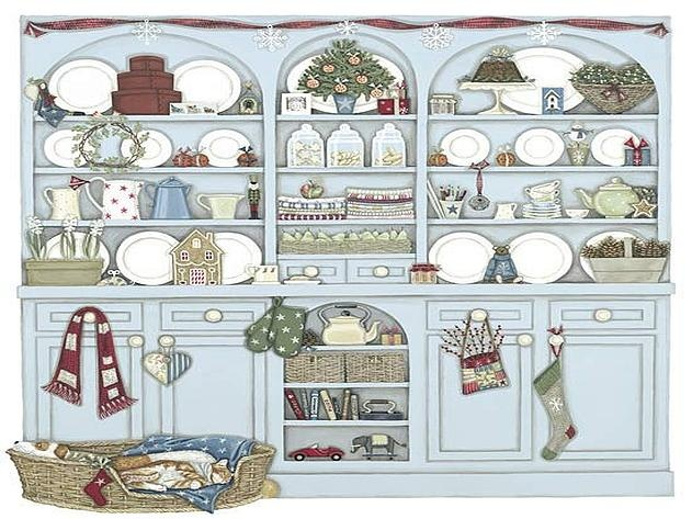 Christmas Dresser by Sally Swannell
