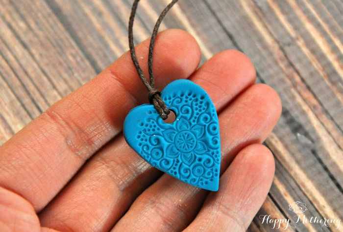 DIY Baked Clay Essential Oil Diffuser Necklaces