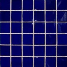 Waxman Arkitekt Gloss Dark Blue Gloss Porcelain Mosaic Floor, Exterior and Swimming Pool Tile