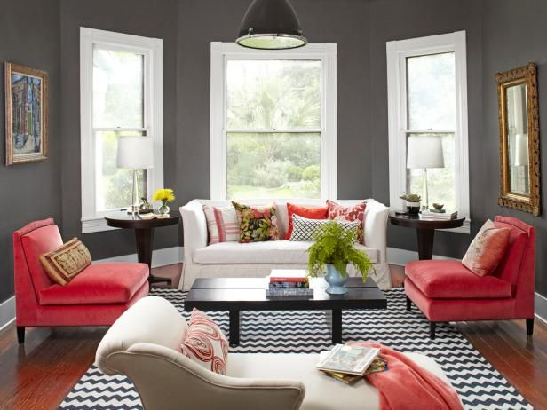 Paint room charcoal + 21 more ways to be (a little) more daring with your decorating #hgtvmagazine http://www.hgtv.com/design/decorating/design-101/22-ways-to-be-a-little-more-daring-with-your-decorating-pictures?soc=pinterest