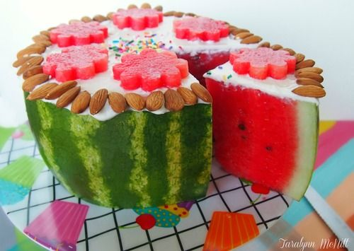 THIS IS NOT CAKE!Celebration Cakes, Fruit Cake, Yogurt Frostings, Celebrities Cake, Watermelon Cake, Healthy Food, Awesome Cake, Birthday Cake, Greek Yogurt