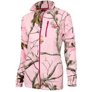 Realtree AP Women's Pink Full-Zip Fleece Zip Up