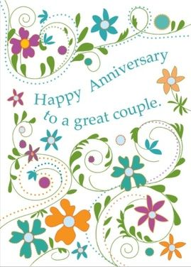 Love sending this Anniversary card to a great couple. What a wonderful feeling I get inside when I send kindness out into the world This is a real card (not an e-card) shared from Sendcere.