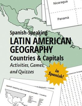 Latin American Geography for Kids IN SPANISH! Use these games, activities, and quizzes to teach your students the Spanish-speaking Latin American countries and capitals. Great at the beginning of the year to get Latin America geography introduced.