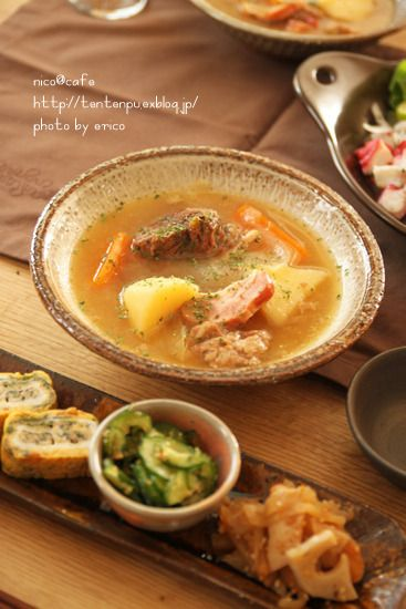 牛すね肉の下ごしらえ~☆ ポトフマスタード醤油風味 by nico@cafeさん ...