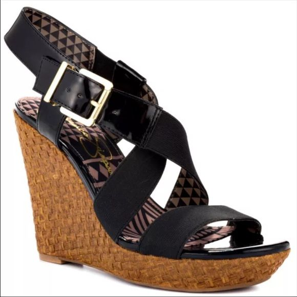 Jessica Simpson wedge shoes size 5.5 come with box Comes with original shoe box Jessica Simpson Shoes Wedges
