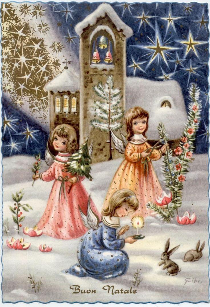 300 best christmas cards vintage orange 5 images on pinterest 1950s italian christmas card kristyandbryce Images