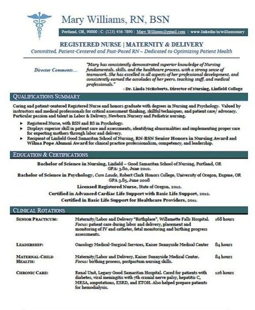 Best 25 Nursing resume template ideas – Nursing Resume Templates