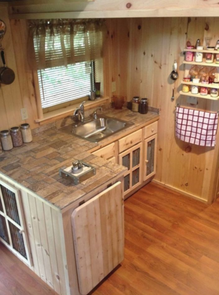 15 Office Interior Cabin Small Spaces Small Cottage Kitchen Tiny House Kitchen Tiny Kitchen Design