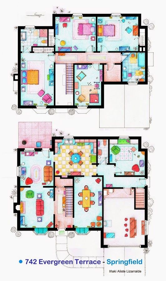 19 best TV Show Floor Plans images on Pinterest   Architecture ...