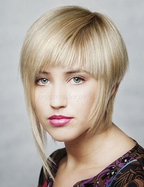rövid frizurák, rövid frizurák hosszú frufruval - aszimmetrikus női frizura