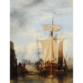 EDWARD WILLIAM COOKE (1811-1880) - ST PETER PORT, GUERNSEY