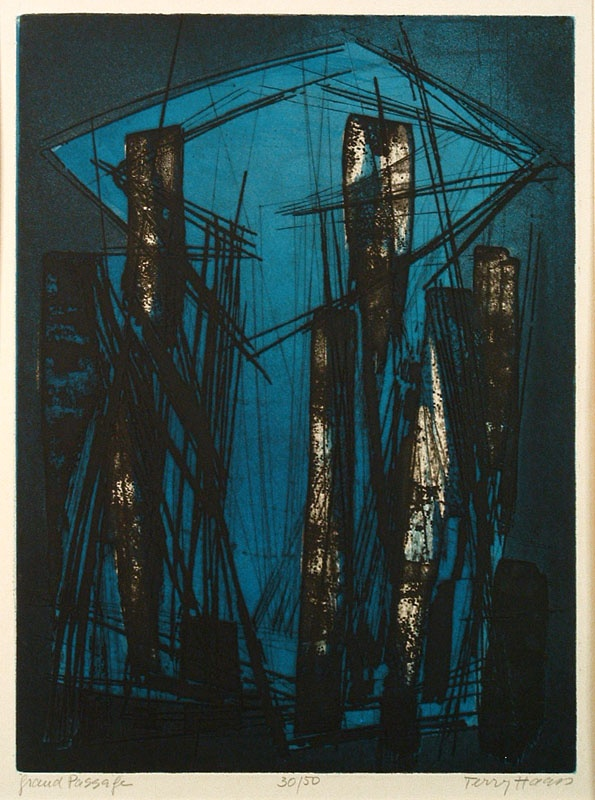 """Terry Haass: """"Grand Passage"""", 1960; color engraving, etching, and aquatint."""