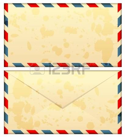 illustration of old airmail envelope photo