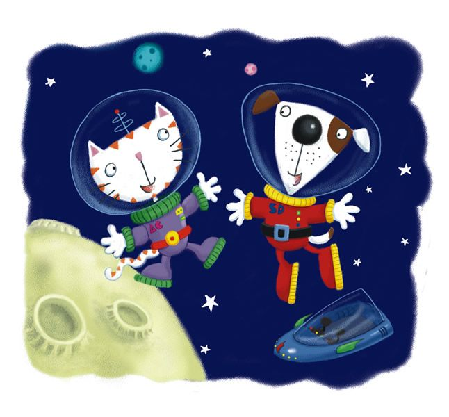 cartoon astronaut in outer space - photo #5