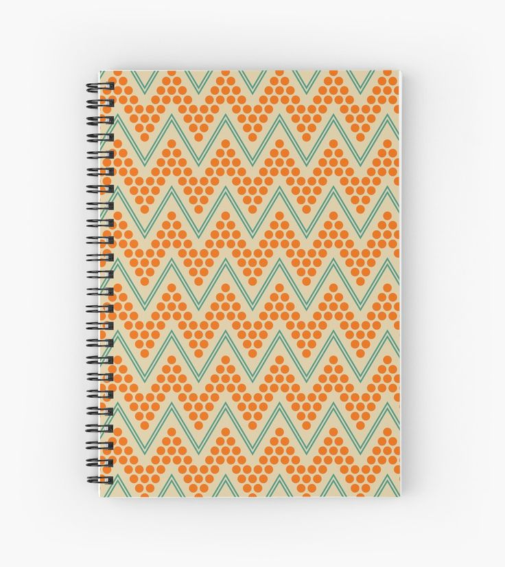 Geometric chevron pattern by LunaPrincino  #design #graphic #print #prints #redbubble #gift #idea #ideas #stationery #spiral #notebook #graphics #cool #creative #for #office #style #stylish #pattern #chevron #zigzag #geometric #geometry #lines #dots #trendy #ornament #ornate #pretty #beautiful #beige #turquoise #teal #orange #school