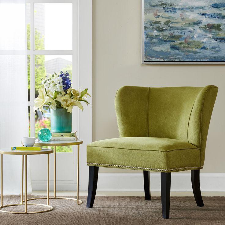 Madison Park Sheldon Green Armless Accent Chair 30 25w X 28 75d X 33 5h Green Foam