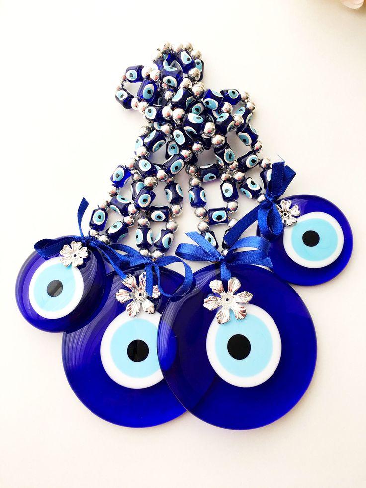 Evil Eye Wall Hanging, Large Evil Eye Beads, Evil Eye Wall Decor, Tiny Evil  Eye Beads, Nazar Boncuk, Blue Wall Decor, Christmas Gift Idea