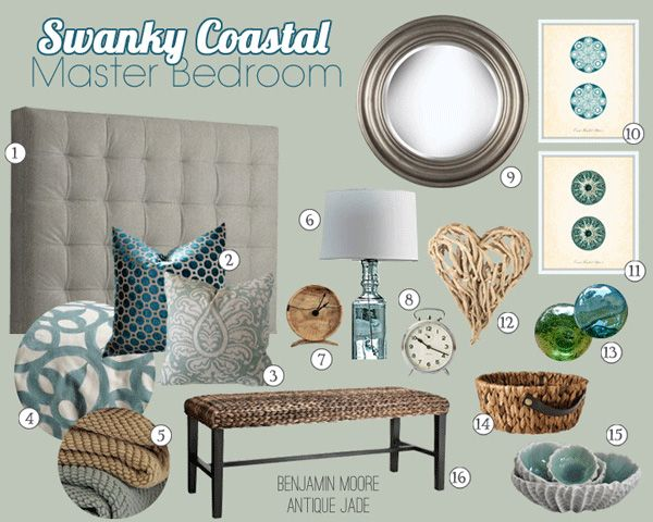 Swanky Coastal Master Bedroom And Bathroom Mood Boards By Teal Lime Dream Beach House