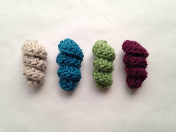 Jouets pour chats, bonneterie vers laineux, pack de 3, laine, feutrage