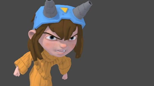 Quick Animation to test the rig and the sim for cloth and driver mesh for hair dynamics