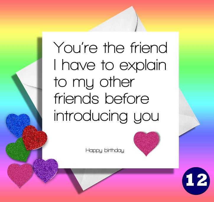 Funny Birthday CardYoure The Friendgreetings Card Friendbrothersistermummommotherdadhappy Birthdaycomical Best Friend Auntmate By LOLcardshop