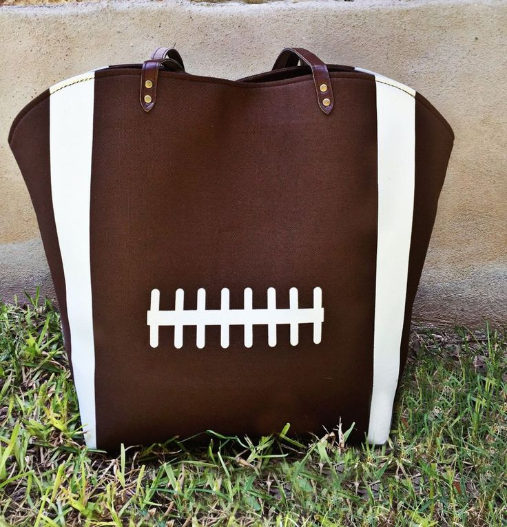 Popular Canvas Football Tote