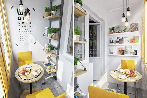 Balcón cerrado en apartamento pequeño