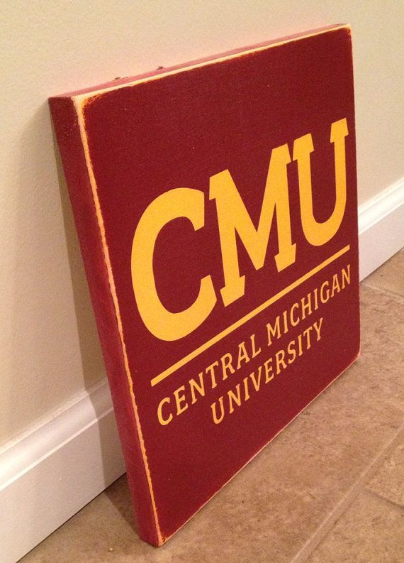 Central Michigan University sign  wood wall by MittenMadeDesigns, $20.00