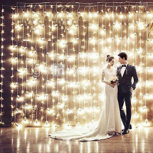 Navidad de la cortina ktv barras de brillo de la boda luces cascada decoración lámparas luz de la secuencia impermeable 3 * 3m 200led - USD $ 70.99