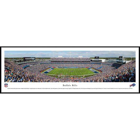 Buffalo Bills - 50 Yard Line at Ralph Wilson Stadium - Blakeway Panoramas NFL Print with Standard Frame