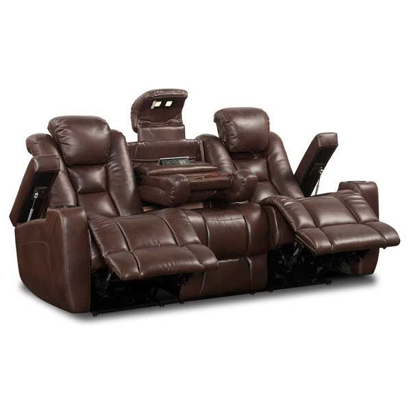 Lane Transformer Motion Furniture | Power Reclining Brown Sofa
