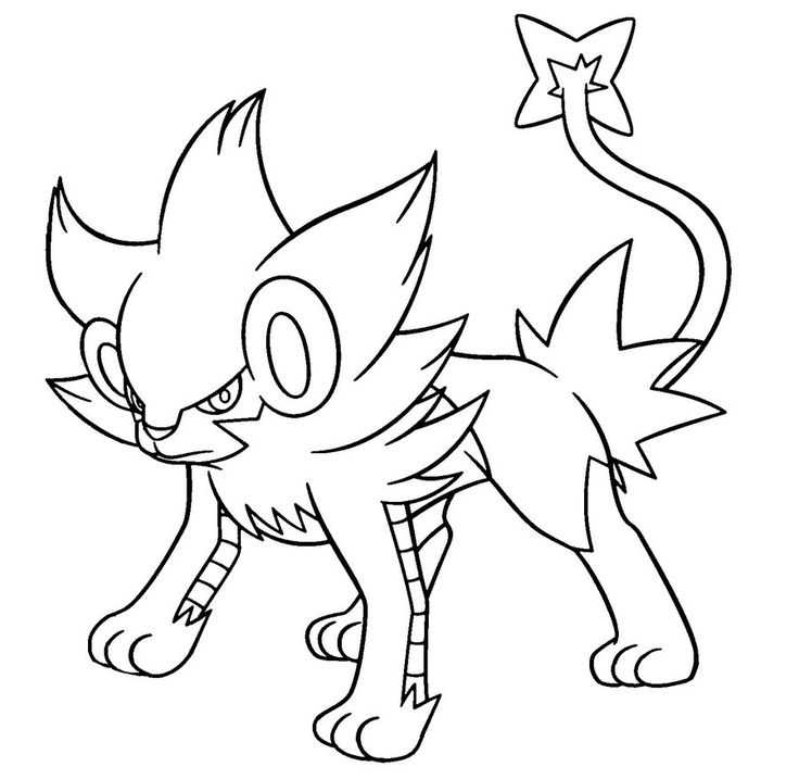 Pokemon Luxray Coloring Pages Pokemon Pinterest