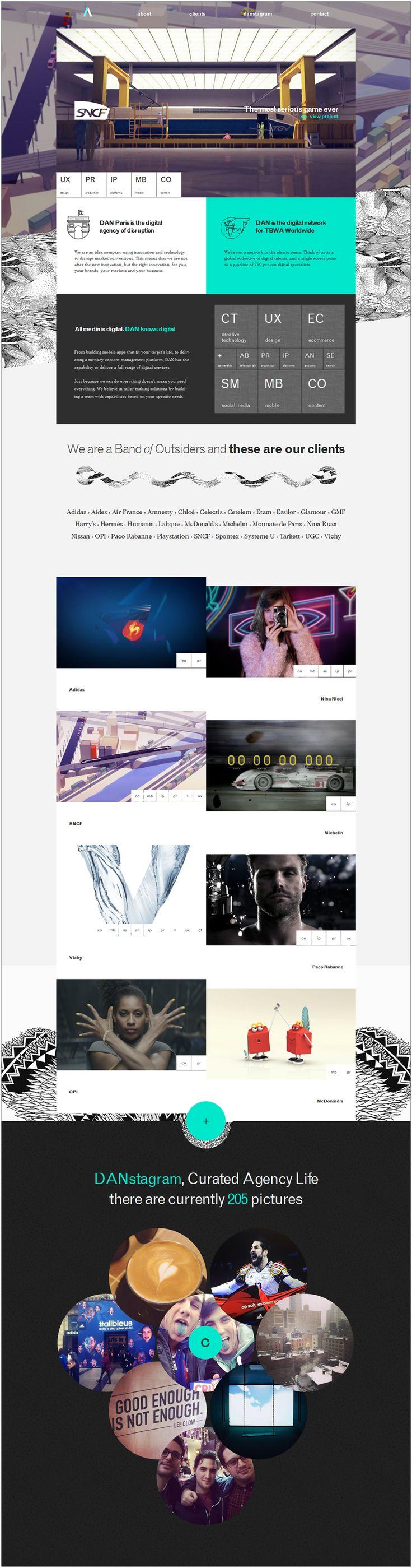 DAN Paris #creative #website #webdesign #design #web #internet #site #webdesigner #designer #layout #template #theme #pikock www.pikock.com #ui #ux