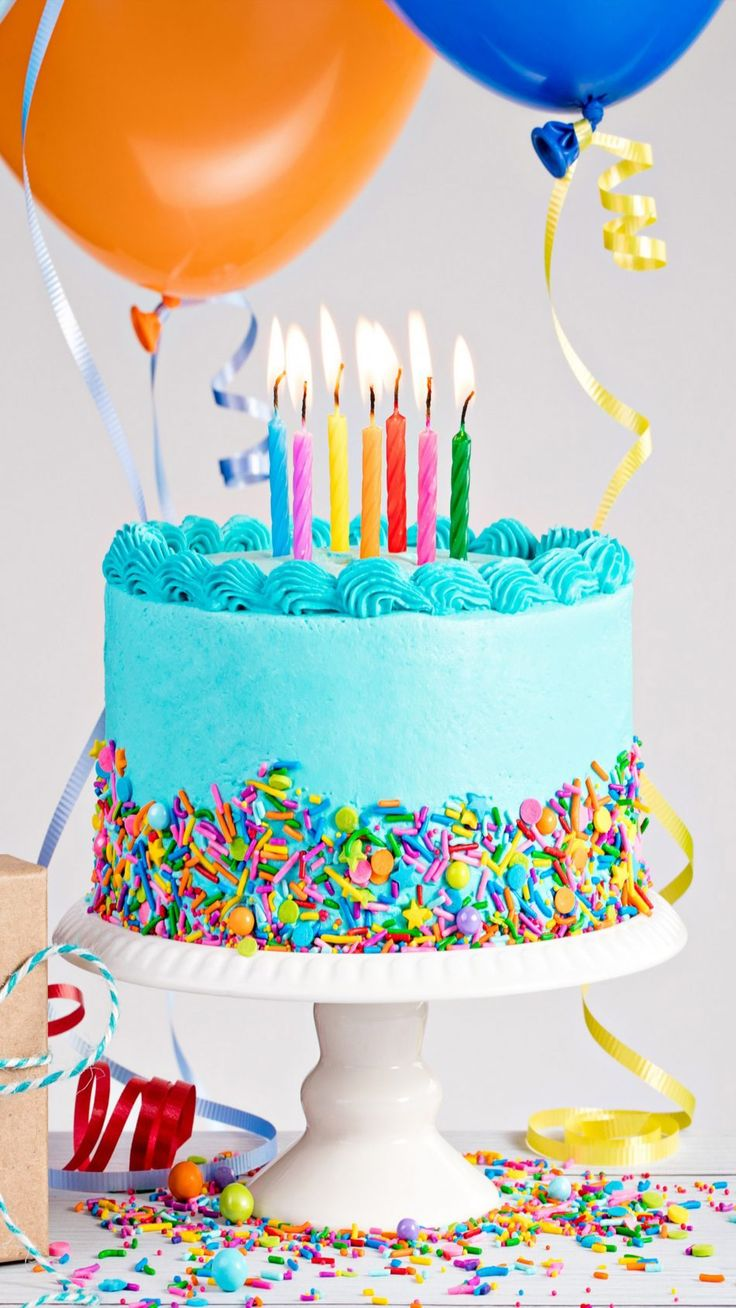 Birthday Cake Balloon Gift | Balloon birthday cakes, Happy ...