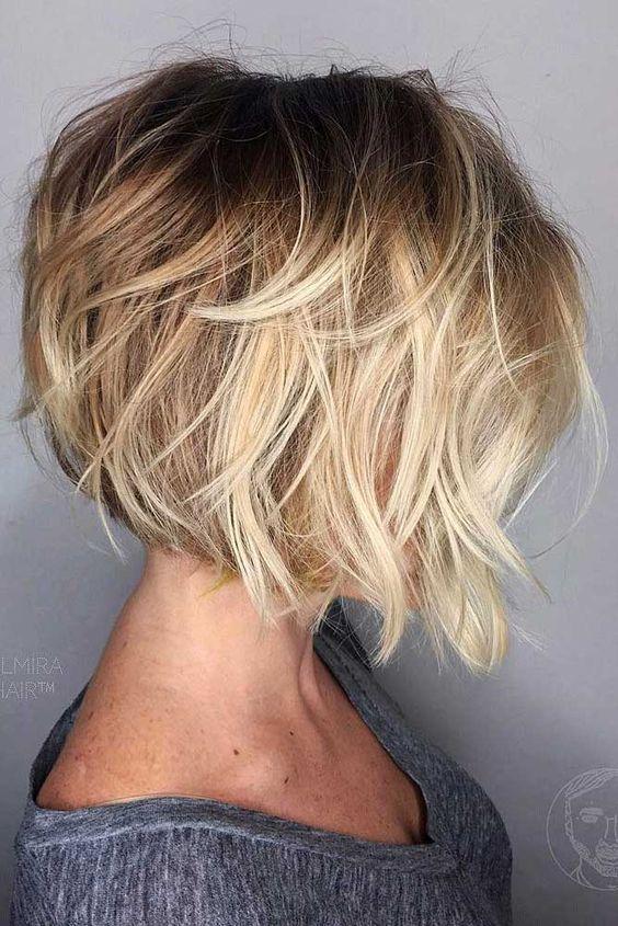 Een mix van 11 blonde bob kapsels met een natuurlijke Balayage effect - Kapsels voor haar
