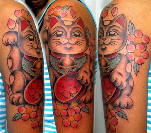 maneki neko : tattoo feita por xMANEKOx  - GOODFELLAS CLAS.SICK TATTOOS