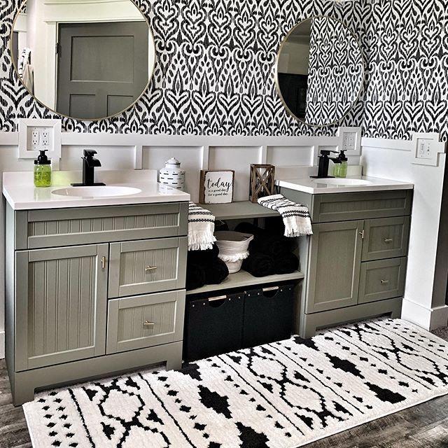 Young Bohemian Farmhouse Bathroom Decor Farmhouse Style Rugs Rugs In Living Room