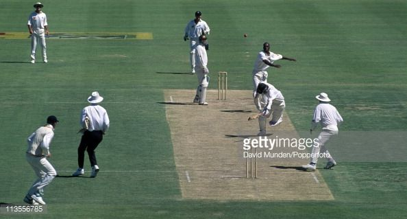 News Photo : Mark Waugh of Australia, who was a runner for the...