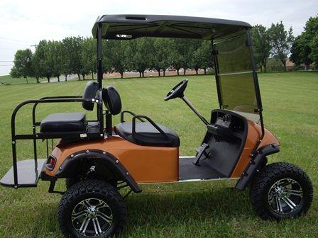 A Yamaha Golf Cart Frame on