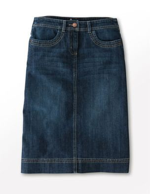 I've been looking for denim skirts like this for church. Can't find any guess I will have use an old pair of jeans.
