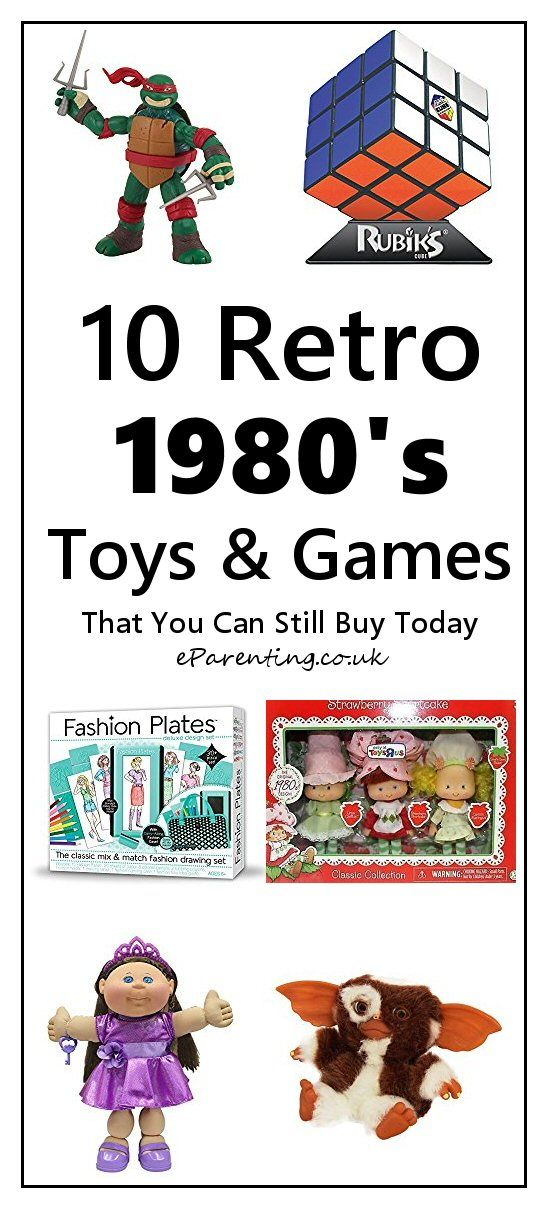 Ten Retro 1980's toys that you can still buy today - from TMNT to Polly Pocket and Cabbage Patch Kids to Rubik's Cube. #80sretro #80stoys #1980s #1980sretrotoys #1980sgiftideas
